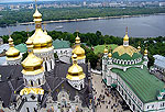 Kiev Photo Gallery. View from the bell tower, Caves Monastery
